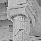 Greek  ionian order column detail Stock Image
