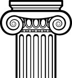 Greek Ionic Column Royalty Free Stock Image