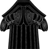 Greek Ionic Column Vector 03. Ancient Greek Ionic High Detail Perspective Column Royalty Free Stock Photos