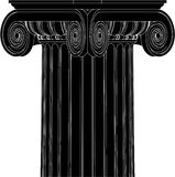 Greek Ionic Column Vector 04. Ancient Greek Ionic High Detail Column Stock Photo
