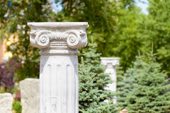 Greek Ionic Columns. In a park of Kiev, Ukraine royalty free stock photography