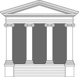 Greek Ionic Temple Stock Photo