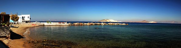 Greek Island. A panorama of a greek island Stock Photography