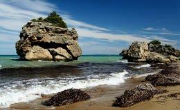 Greek island. The view from Zakynthos island stock image