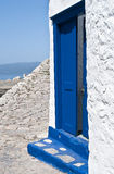 Greek island. Traditional colors blue and white of the greek islands Royalty Free Stock Photo