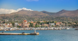 Greek island of Aegina Stock Images