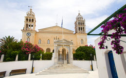 Greek Island Agia Triada Church in Lefkes village Paros Island. Cyclades Greeece Stock Photo