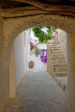 Greek Island Alley Royalty Free Stock Photo