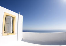 Greek island architecture  sea view Royalty Free Stock Photography
