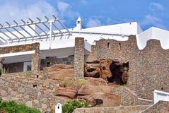 Greek island architecture Stock Photos