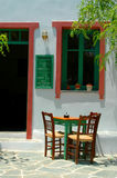 Greek island cafe Stock Image