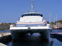 Greek Island Catamaran Stock Photography