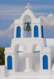 Greek Island Church. Beautiful traditional white church belfry on the Greek Island of Santorini Royalty Free Stock Photo
