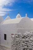 Greek Island Church. Beautiful traditional white church on the Greek Island of Mykonos Stock Images