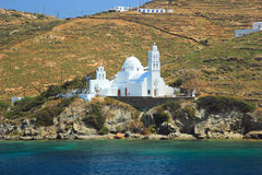Greek island classic church cyclades. Islands Royalty Free Stock Image