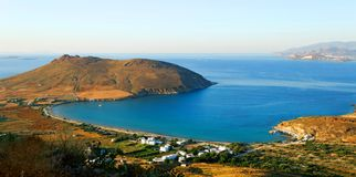 Greek island coastline Royalty Free Stock Photo