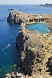 Greek Island Coastline Stock Photography