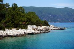 Greek Island Coastline Stock Image