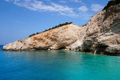 Greek Island Coastline Royalty Free Stock Photography