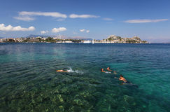 The Greek island of Corfu Stock Images