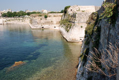 Greek Island of Corfu, city Kerkyra, Greece Stock Photos