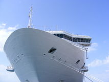 Greek Island Cruse Ship Stock Photo