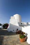 Greek island cyclades house. Greek island house classic cyclades style architecture santorini ia oia greece Royalty Free Stock Images