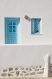 Greek Island Door and Window Royalty Free Stock Photography