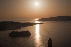Greek Island Dusk Royalty Free Stock Photography