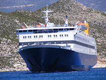 Greek Island Ferry Royalty Free Stock Photography