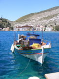 Greek Island Fishing Boat. A colourful fishing boat sitting in the harbour of the Greek Island of Kastellorizo Royalty Free Stock Photo