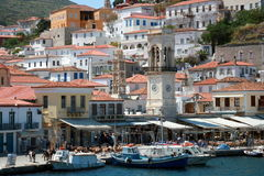 Greek island Hydra. Hydra island, Greece - view from the seaside Royalty Free Stock Photography