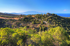Greek island landscape Stock Photography