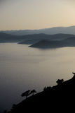 Greek island of lesvos. Evening view over greek island of lesvos Stock Photography