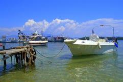 Greek island mooring Stock Images