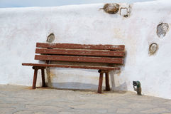 The Greek island of Mykonos Wharf Stock Photography