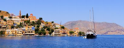 Greek island panorama Stock Photo