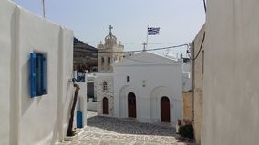Greek Island Paros, Marpissa Village Royalty Free Stock Photography