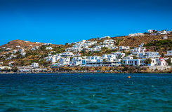 Greek island restaurants Stock Photography