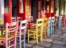 Greek island restaurants Stock Photo