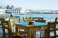 Greek island restaurants Stock Images