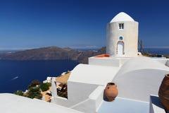 The Greek island of Santorini. Hotel on the Greek island of Santorini Stock Photography