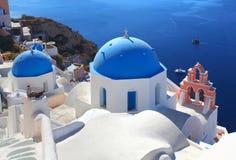 The Greek Island of Santorini. Church in Oia on the Greek island of Santorini Royalty Free Stock Photo