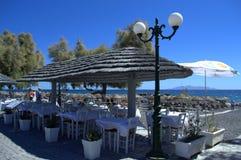 Greek island seafront Royalty Free Stock Photos