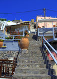 Greek island stairs Stock Photo