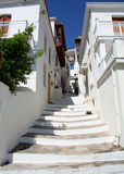 Greek island street scene Royalty Free Stock Photos