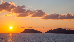Greek Island Sunset Royalty Free Stock Images