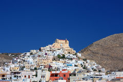 Greek Island Town Royalty Free Stock Photography