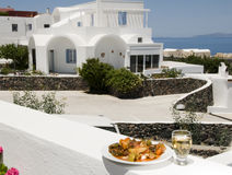 Greek island vegetables white wine v stock images