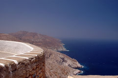 Greek island view Royalty Free Stock Photography